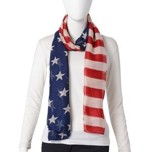 Scarf Ladies USA National Flag Pattern 3 For $30